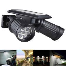 LED Solar Strahler Lampe mit Bewegungsmelder Außenleuchte Doppelkopf Spot Licht