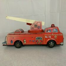 Red no, 70 Tin F.D.  fire truck toy battery operated  for parts or restore