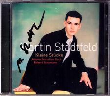 Martin STADTFELD Signiert BACH SCHUMANN Kleine Stücke Tcoccata Bunte Blätter CD
