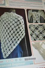 Hooked for Life Crochet Pattern Beaded Thistle Shawl advanced beginner