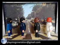 Playmobil CUSTOM THE BEATLES - ABBEY ROAD     John Lennon, Paul McCartney, Geor