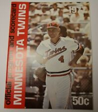 1977 OFFICIAL PROGRAM MLB BASEBALL MINNESOTA TWINS SCORECARD RARE VS KANSAS CITY