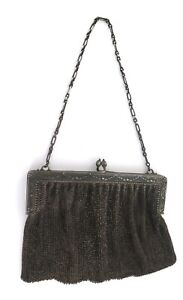 .Antique Decorative .800 Silver French Chainmail Ladies Purse Bag 1900's