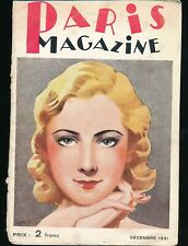 PARIS MAGAZINE December 1931 Spicy Sexy French Pin-Up Girlie ART DECO Nudes vv