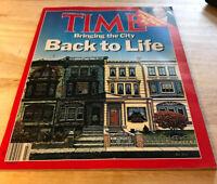 Time Magazine November 23, 1987- Urban Restoration, Supreme Court The Third Try