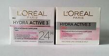 Loreal Hydra Active3 Feuchtigkeits&IntevsivFeuchtigskeitPfelege Tag 50ml=100ml
