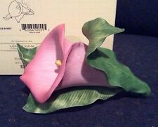 Lenox Pink Calla Lily Flower Sculpture Garden Flower Collection New In Box W/Coa