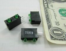 10 Mergery 21959 Dual Green Mounted LEDs LT832G-H207-C3P Indicator Bar 3mm