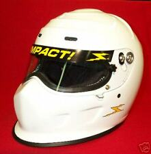 Impact Champ White Racing Helmet Full Face SA2015 IMCA Your choice of size