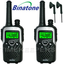 10Km Binatone Action 1100 Walkie Talkie 2 Two Way Radio PMR 446 Licence Free
