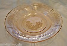 Vintage Pink Depression Glass Sharon CABBAGE ROSE Round Butter Dish Bowl