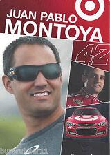 "2013 JUAN PABLO MONTOYA ""TARGET #42 GANASSI"" NASCAR SPRINT POSTCARD"