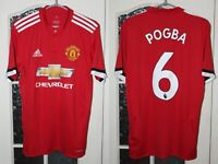 Manchester United MU 2017 2018 Pogba Adidas Home Red  Shirt Jersey Size S