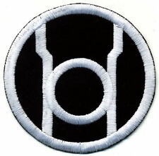 "5"" Red Lantern Corps Classic Embroidered Patch - White Thread on Black Fabric"