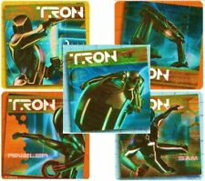 5 x Square Stickers ~ Tron Movie The Grid Game Rinzler Sam Bike Party Favours  ~
