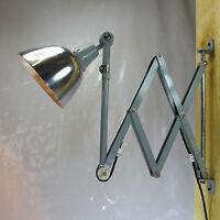 XXL 110cm MIDGARD ART DECO WAND SCHERENLAMPE WERKSTATTLAMPE INDUSTRIE DESIGN