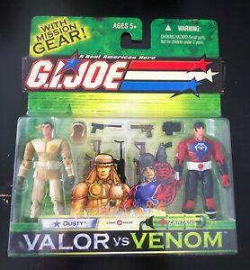 2004 GI Joe Valor vs Venom 2-Pack Dusty vs Zartan Action Figures NEW