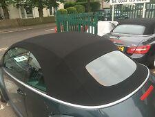 VW Beetle periodo 2002-2010 NUOVO NERO Mohair Cappuccio con Riscaldato Vetro Finestra