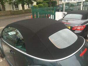 VW Beetle 2002-2010 - New Mohair Hood with Glass Window