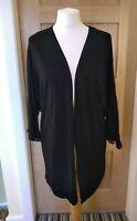 Simply Be Jersey Black Kimono Jacket Size 12 Lightweight Cardigan