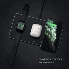 Satechi Trio Wireless Charging Pad Qi-Certified for Apple Watch iPhone Uk & Eu