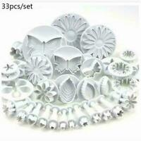 Plunger Cutters Cake Decorating Fondant Cookie Biscuit Mold Flower Set A8S4