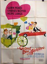 Affiche LE GRAND DUC ET L'HERTIERE. 120 x 160 cms.  Glenn Ford, Charles Boyer