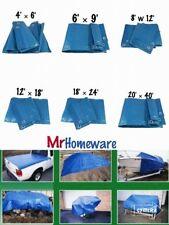 NEW 6'X9' Heavy Duty Tarpaulin Ground Sheet Waterproof Shed Camping Polyethylene