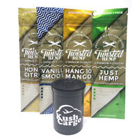 Twisted Hemp Wraps Designer Blends Variety Pack 4 Pack with KC Pop Top (4 Packs)