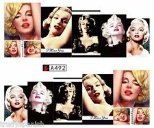 Full Wrap Water Transfers Stickers Nail Art Decals Marilyn Monroe (a492)