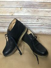 Men's Frye Phillip Crepe Black Leather Chukka Boots Size 9.5 D EUC