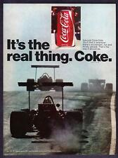 """1971 Grand Prix Racers & Coke Can photo """"It's the Real Thing"""" Coca-Cola print ad"""