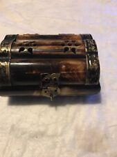 Vintage Bone Trinket Jewels Box Treasure Chest