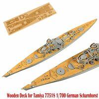 1 x Wooden Deck for Tamiya 77518 1/700 Scale German Battlecruiser Scharnhorst