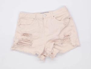 Womens New Look Pink Denim Shorts Size 10/L3