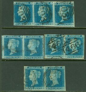 EDW1949SELL : GREAT BRITAIN 1841 Scott #4 VF Choice. 3 pairs & 1 strip Cat $765+