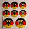 Pegatinas Alemania Pegatina Bandera Alemana Redondas 3D Vinilo Adhesivo Relieve
