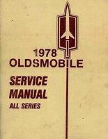 1978 OLDSMOBILE SHOP MANUAL SERVICE REPAIR BOOK FACTORY CHILTON HAYNES WORKSHOP