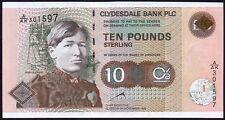 1998 clydesdale bank plc BANCONOTA £ 10 * A/AK 301597 * PRIMA * UNC *