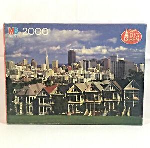 MB Super Big Ben 2000 PC Puzzle San Francisco Row House 3' X 2' 1985 SEALED VTG