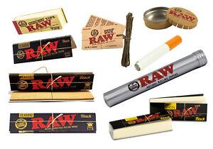 RAW Smoking Accessories Rolling Paper Filter Tips Hemp Wick Pop Top Metal Tube