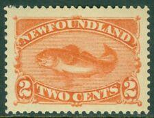 EDW1949SELL : NEWFOUNDLAND 1887 Scott #48 XF, Mint OG VLH. Jumbo. Cat $37.50++