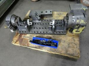 2010 Nikken CNC-250L Rotary Table 4th Axis w/ TAT-200 Support, Trunnion CNC VMC