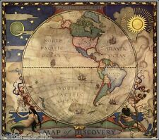 Map of Discovery - Western Hemisphere  :  N. C. Wyeth  :  circa 1929