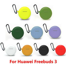 For Huawei Freebuds 3 Wireless Earbuds Charging Case Silicone Cover with Buckle