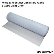 Vehicle Headliner Fabric with Foam Backing, Replace Drooping&Torn 5FT Wide Grey
