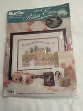 New listing Bucilla Love Makes Our House Ribbon Embroidery Kit Sealed 1994