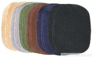 IRON OR SEW ON CORDUROY ELBOW OR KNEE REPAIR PATCHES ( CHOICE OF 7 COLOURS )
