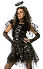 Dark Gothic Angel Adult Halloween Dress Up / Role Play Costume L 12-14 + Extras