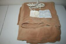 Biddeford Electric Heated Warming Micro Plush Brown Full Blanket Control OBG02